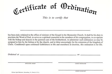 certificate of ordination template taking the week worthy of the gospel