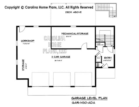 garage plans with apartment one level pdf file for chp gar 1430 ad small adaptable garage