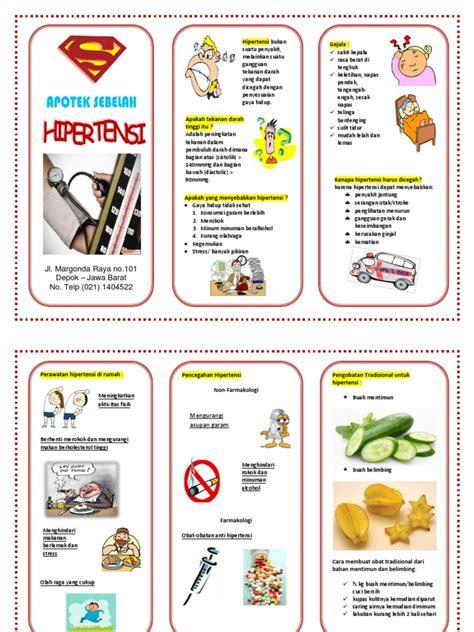 cara membuat brosur tentang kesehatan contoh leaflet hipertensi
