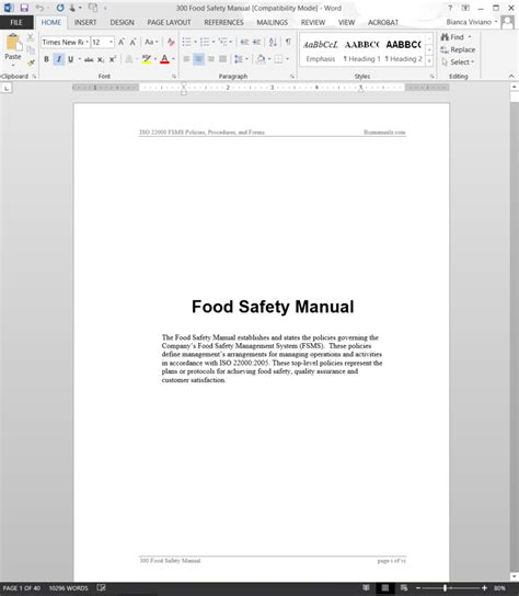 safety manual template image collections templates