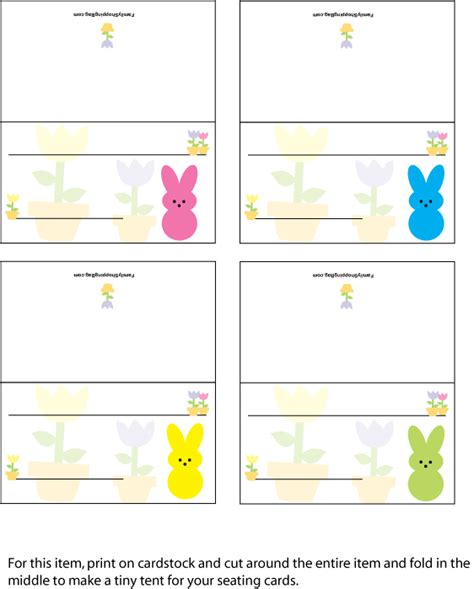 Easter Place Card Template by Table Setting Cards Template 22 Place Setting Templates