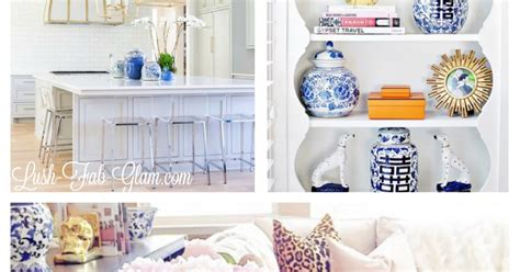 ginger home decor lush fab glam blogazine home decor trends white and blue