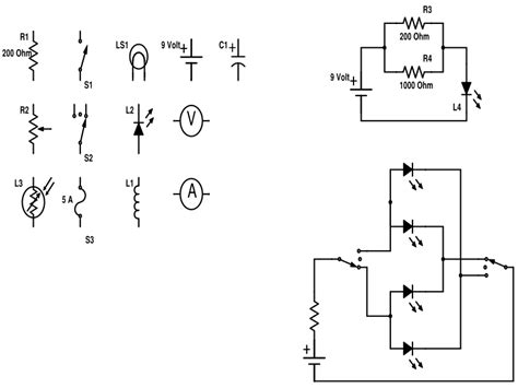 physics diagrams electrical schematic symbols for powerpoint electrical
