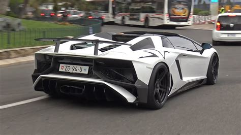 lamborghini aventador sv roadster with insane capristo exhaust lamborghini aventador lp750 4 sv roadster w capristo carbon exhaust youtube