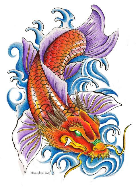 dragon face tattoo designs 30 carp fish designs