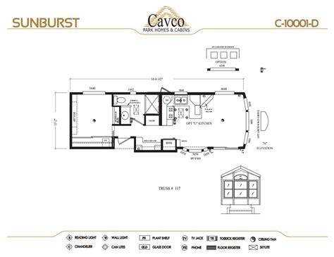 breckenridge park model floor plans cavco sunburst park model homes from 21 000 the