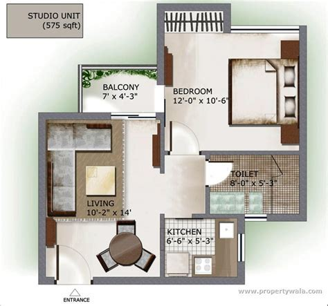 Stirring One Bedroom Apartment Floor Plans with a Pretty