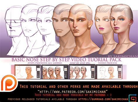 tutorial online free basic nose video tutorial pack promo by sakimichan on