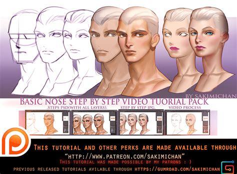 tutorial video digital basic nose video tutorial pack promo by sakimichan on