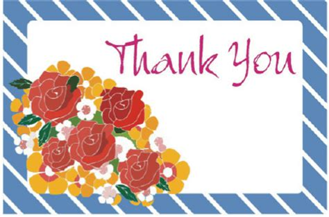 free printable greeting cards thank you thank you card with roses