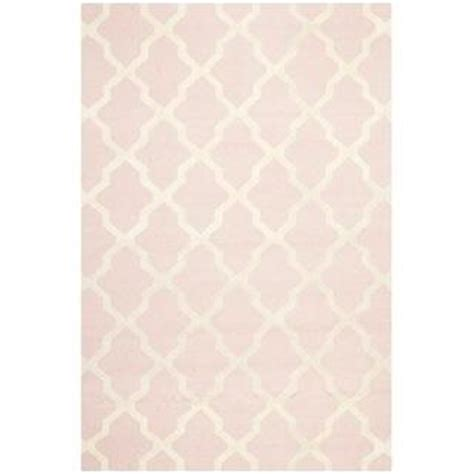 Overstock Pink Rug by Handmade Cambridge Moroccan Light Pink Wool Rug