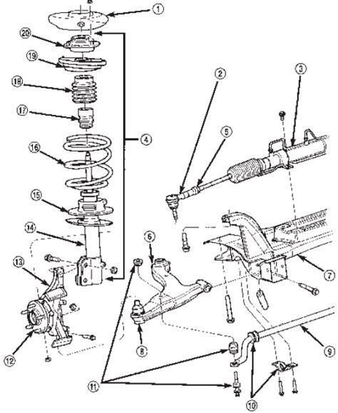 pt cruiser rear suspension diagram 2004 pt cruiser rear suspension diagram