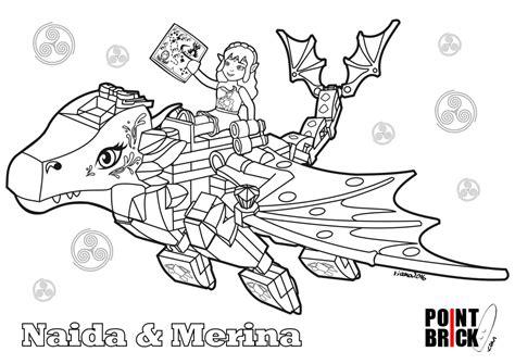coloring pages lego elves disegni da colorare lego elves naida e merina il drago