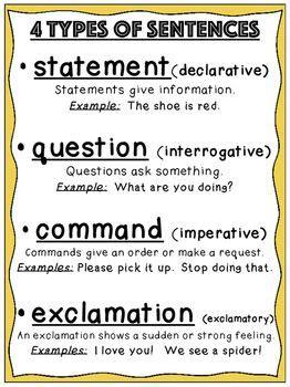 types  sentences poster types  sentences  types