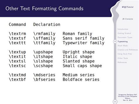 latex tutorial commands latex tutorial