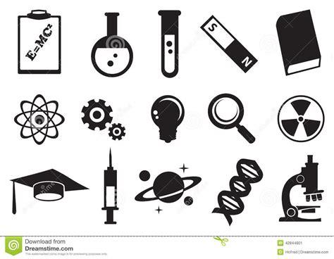 imagenes quimica blanco y negro sistema del icono del vector de la educaci 243 n de la ciencia