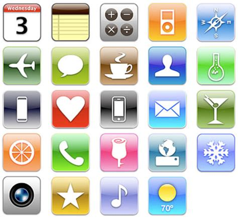 design icon iphone 25 creative design icons set for web designers