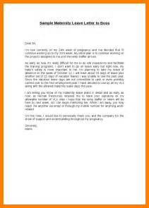 letter maternity leave template 5 maternity leave letter to employer template joblettered