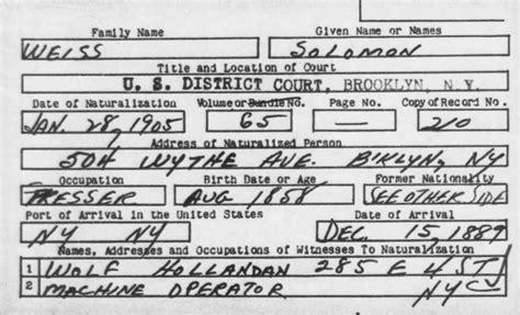 Austrian Birth Records Solomon Weiss Family