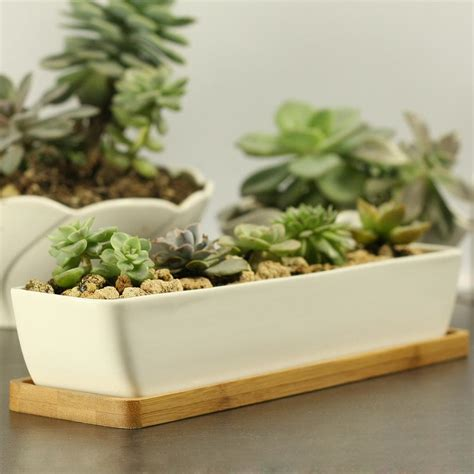 small white planter cheap modern style decorative white rectangle