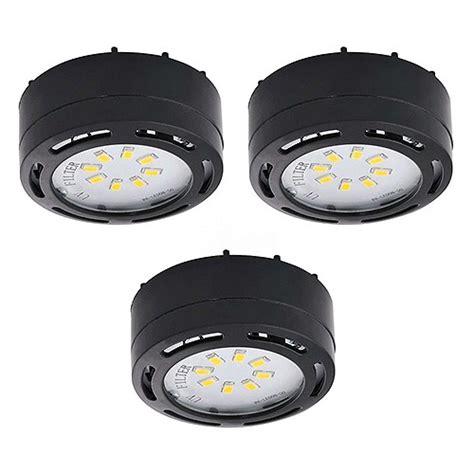 120 volt cabinet lighting led black 3 puck light kit 120volt recessed or surface