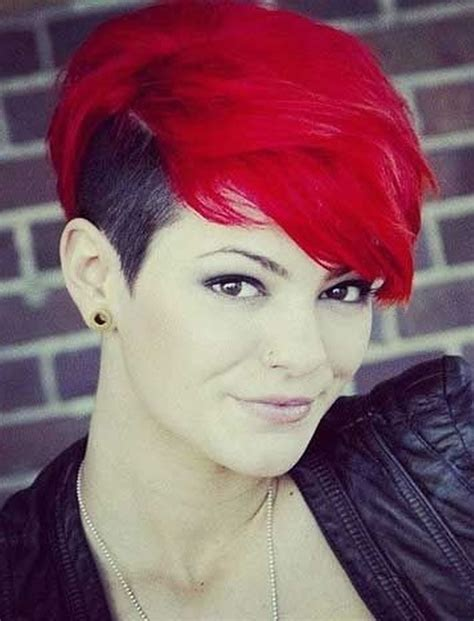 hairstyles with color for short hair red hair color for short hairstyles 27 cool haircut