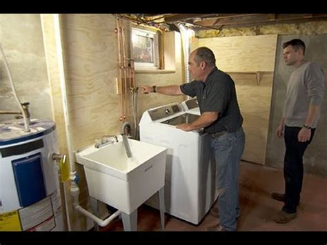 How to Install a Basement Laundry   YouTube