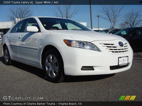 Toyota Camry 2009 White White 2009 Toyota Camry Le Ash Interior