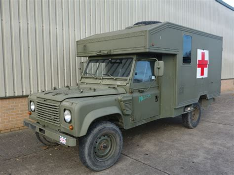 land rover wolf ambulance land rover 130 defender wolf lhd ambulance stock number