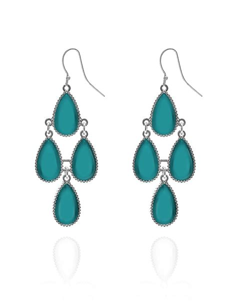 Turquoise Chandelier Earrings Turquoise Chandelier Earring Cleo
