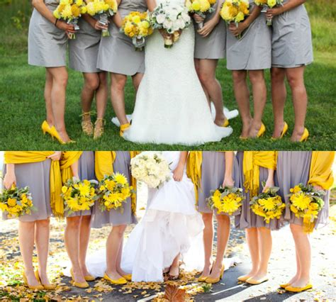 grey bridesmaid shoes yellow shoes with gray bridesmaid dresses budget