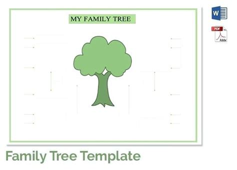 printable family tree template with siblings excel family tree template family tree template free
