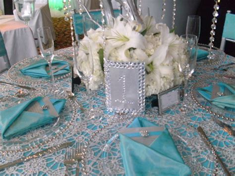 inspiration teal silver bling tablescape inspiration project wedding forums