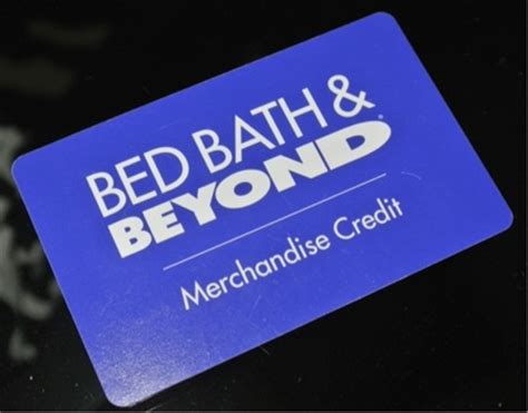 bed bath credit card free 53 11 bed bath beyond merchandise credit also can