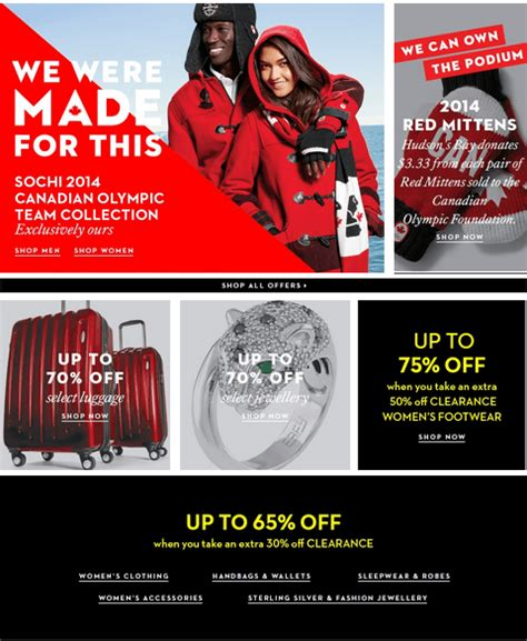 Hudson S Bay Canada Offers - hudson s bay canada offers save up to 70 on selected