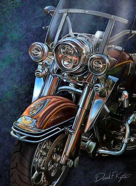 harley davidson ultra classic digital art by david kyte