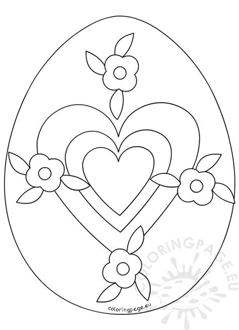 coloring page large easter egg large easter egg template coloring page
