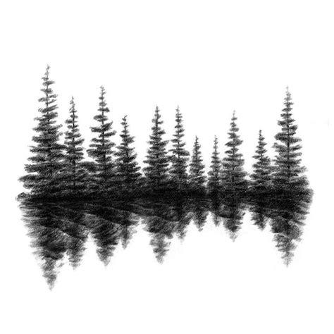 pine tree silhouette tattoo best 25 tree silhouette ideas on tree