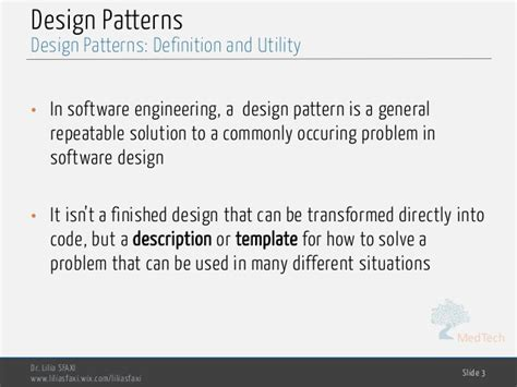 design definition in software engineering software engineering chp4 design patterns
