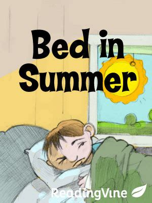 bed in summer bed in summer printable 1st 3rd grade reading