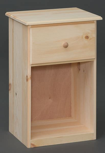 Unfinished Furniture Nightstand One Drawer Nightstand Starkwood Unfinished Furniture Starkwood Unfinished Furniture
