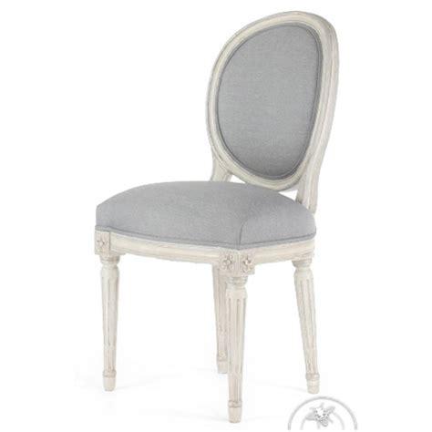 chaises médaillon chaise louis xvi patin 233 e tissu gris m 233 daillon saulaie