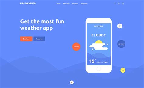 bootstrap weather template bootstrap website templates free download 2017