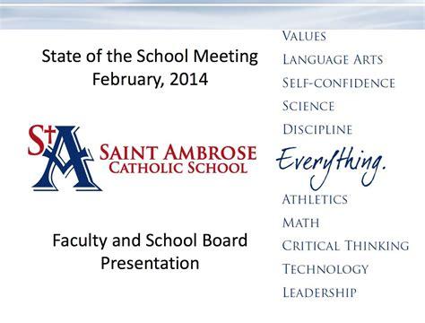 Sab State Of The School Presentation Saint Ambrose State Of The Presentations