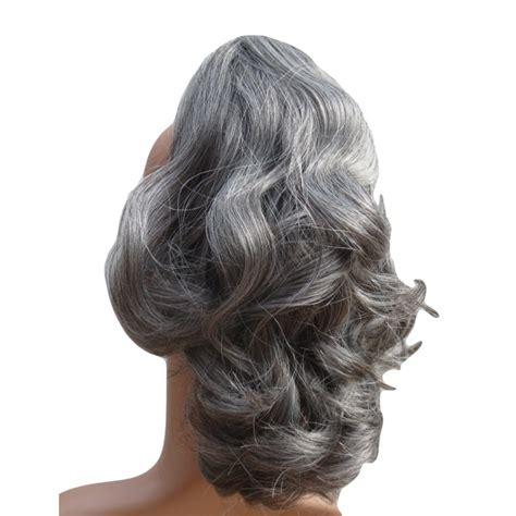 grey hair drawstring ponytail grey hair drawstring ponytail cherie 8a remy human hair