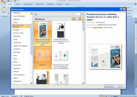 brochure template word 2007 how to create a brochure with microsoft word 2007