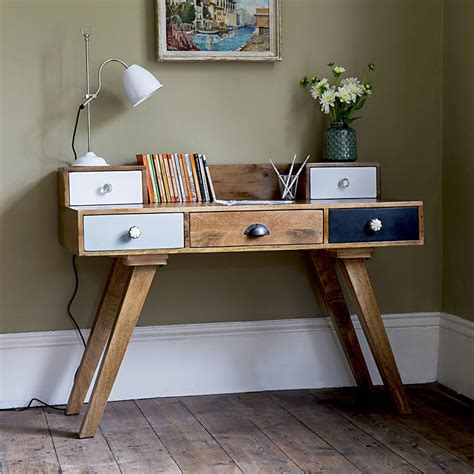 Vintage Desk Ideas Milligan Retro Multi Drawer Desk By Atkin And Thyme Notonthehighstreet