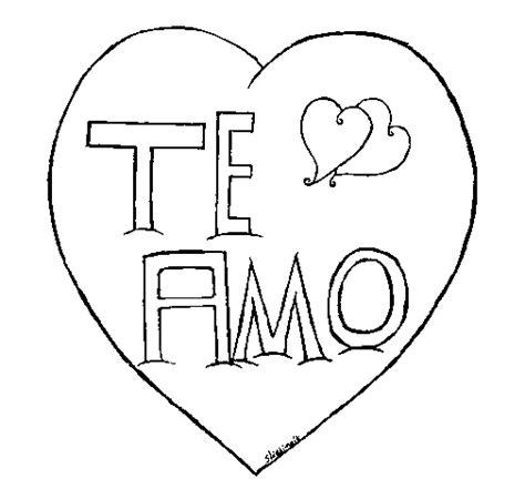 imagenes de amor para dibujar te amo dibujo de te amo para colorear dibujos net