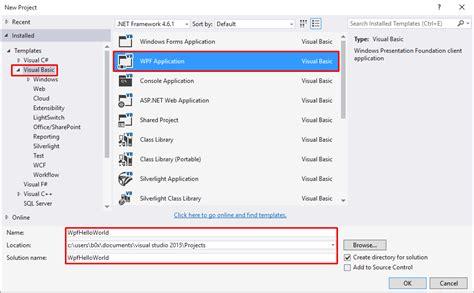 visual basic xaml tutorial vb net wpf tutorial make wpf desktop application