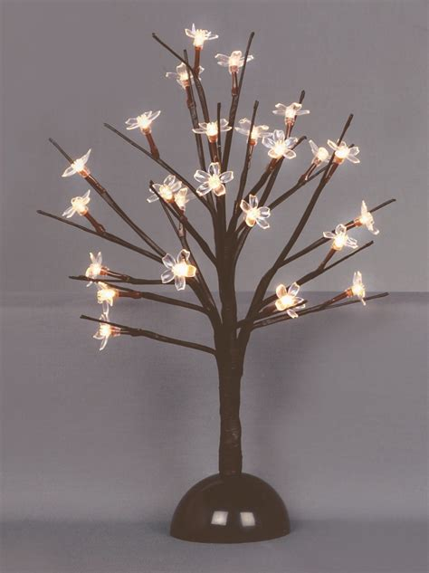 premier 35cm battery operated light up cherry blossom tree